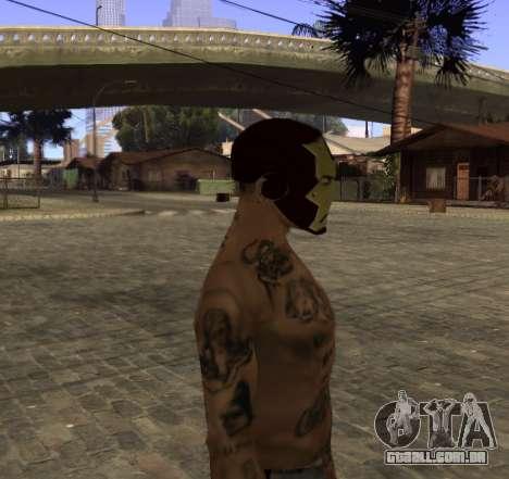 Máscara Homem de Ferro, por CJ para GTA San Andreas terceira tela