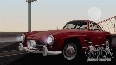 Mercedes-Benz 300SL 1955 para GTA San Andreas traseira esquerda vista