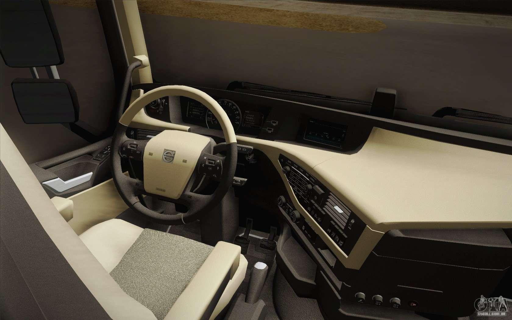 Volvo Fh16 750 Interior >> Volvo FH 750 2014 para GTA San Andreas