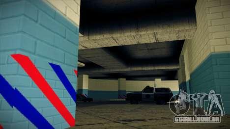 Nova garagem LSPD para GTA San Andreas por diante tela