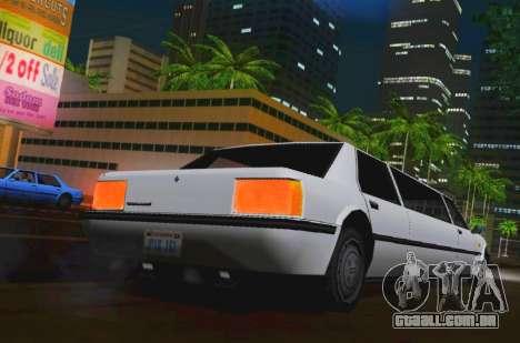 Vincent Limousine para GTA San Andreas traseira esquerda vista