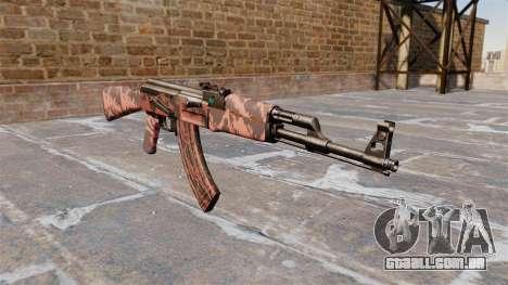 A AK-47 Red tiger para GTA 4