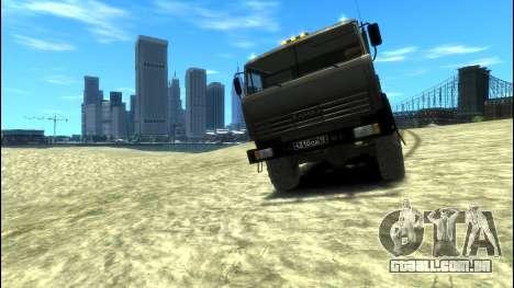 KamAZ 43114 Lado para GTA 4 traseira esquerda vista