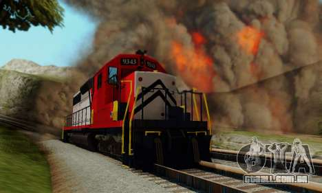 GTA V Trem para GTA San Andreas vista direita