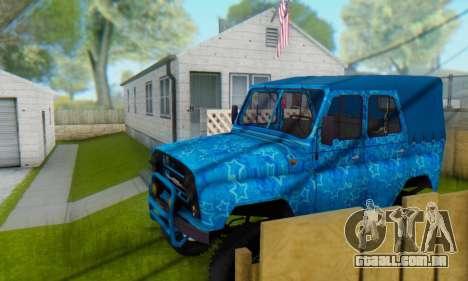 UAZ 469 Blue Star para GTA San Andreas interior