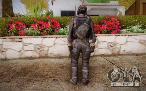 Chute из Call of Duty: Ghosts para GTA San Andreas segunda tela