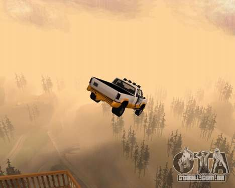 Nova Pickup para GTA San Andreas vista superior