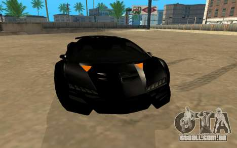 GTA 5 Zentorno para GTA San Andreas vista traseira