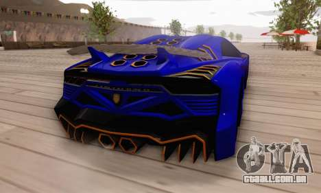 Pegassi Zentorno GTA 5 v2 para GTA San Andreas vista inferior
