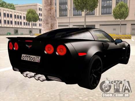 Chevrolet Corvette Grand Sport para as rodas de GTA San Andreas