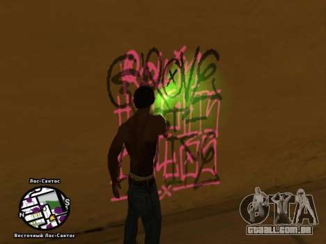 Tags Map Mod v1.2 para GTA San Andreas terceira tela