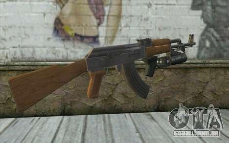 AK47 with GP-25 para GTA San Andreas segunda tela