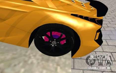 GTA 5 Zentorno para GTA San Andreas vista direita