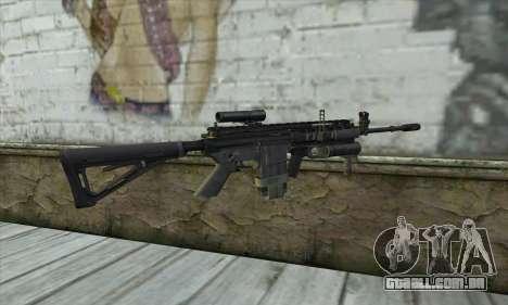M4A1 из COD Modern Warfare 3 para GTA San Andreas segunda tela