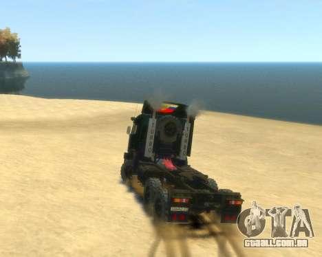 KamAZ Trator 4410 para GTA 4 esquerda vista