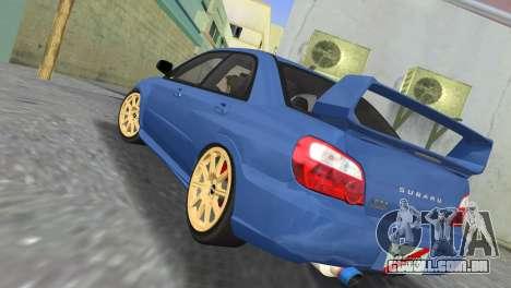 Subaru Impreza WRX STI 2005 para GTA Vice City vista traseira esquerda