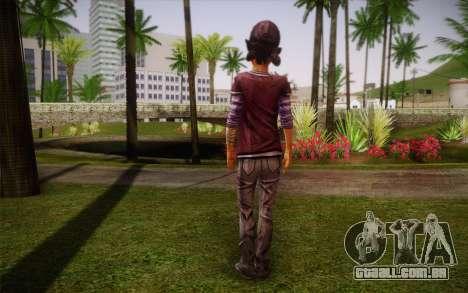 Clementine из The Walking Dead para GTA San Andreas segunda tela