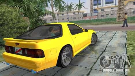 Mazda Savanna RX-7 III (FC3S) para GTA Vice City deixou vista