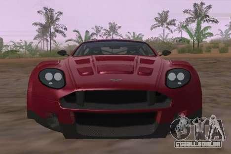 Aston Martin DBR9 para GTA San Andreas vista interior