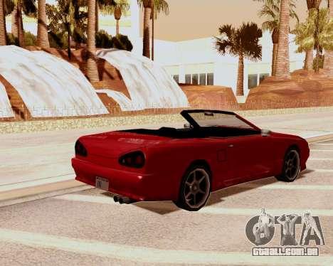 Elegia Conversível para GTA San Andreas esquerda vista