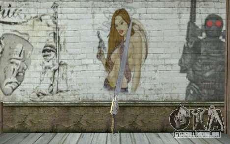Squalls GunBlade para GTA San Andreas segunda tela