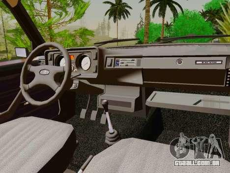 VAZ-2105 para GTA San Andreas vista interior