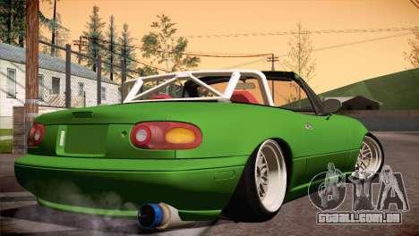 Mazda Miata Hellaflush para GTA San Andreas traseira esquerda vista