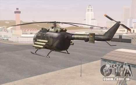 Bo-105 para GTA San Andreas traseira esquerda vista