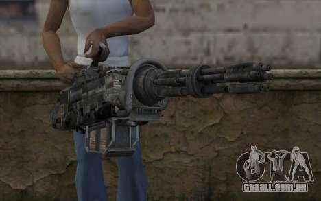 A metralhadora giratória из Fallout para GTA San Andreas terceira tela