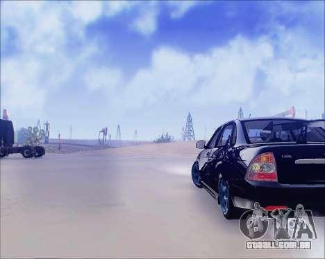 Lada 2170 Priora Tuneable para GTA San Andreas traseira esquerda vista