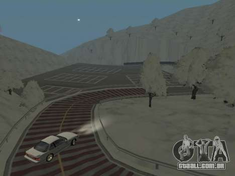 SinAkagi Snow Drift pista para GTA San Andreas terceira tela