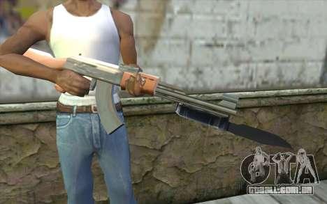 AK47 com uma baioneta para GTA San Andreas terceira tela