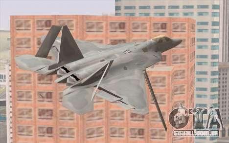 F-22 Raptor para GTA San Andreas vista traseira