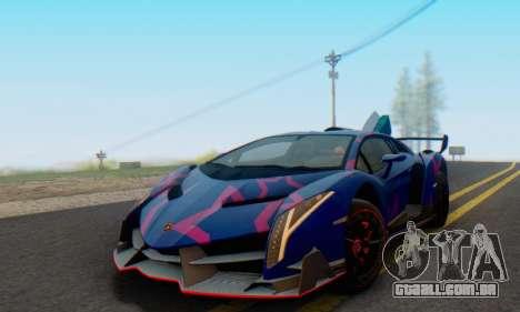 Lamborghini LP750-4 2013 Veneno Blue Star para GTA San Andreas vista inferior