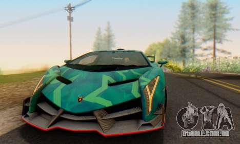 Lamborghini LP750-4 2013 Veneno Blue Star para GTA San Andreas vista interior