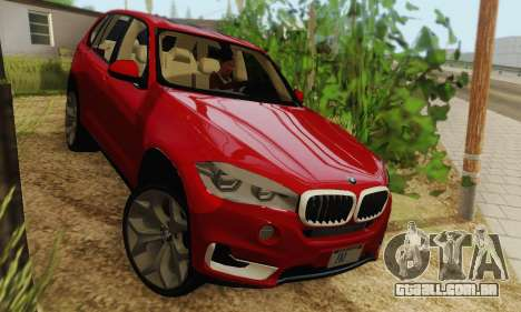 BMW X5 (F15) 2014 para GTA San Andreas traseira esquerda vista