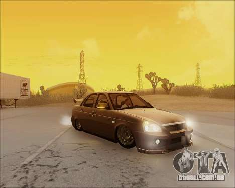 Lada 2170 Priora Tuneable para GTA San Andreas interior