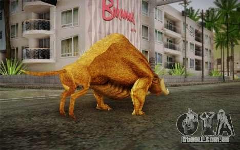 Sirian Werebull para GTA San Andreas segunda tela