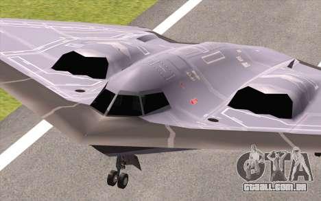 B-2 Spirit para GTA San Andreas vista direita