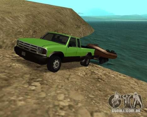 Nova Pickup para GTA San Andreas interior