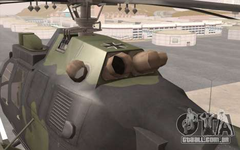 Bo-105 para GTA San Andreas vista traseira