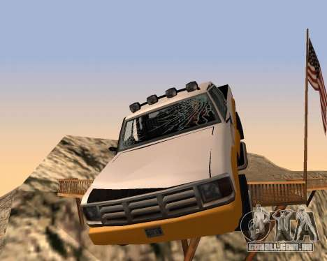 Nova Pickup para GTA San Andreas vista inferior