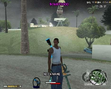 HUD by Romka MC para GTA San Andreas segunda tela