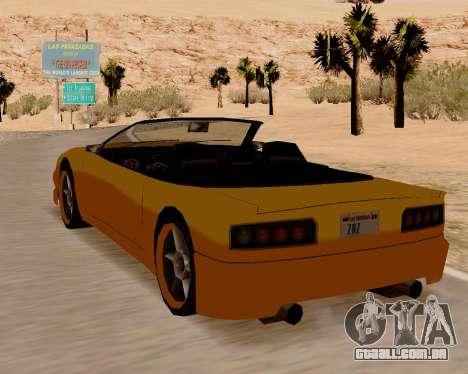 Super GT Conversível para GTA San Andreas traseira esquerda vista