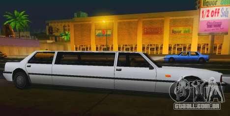 Vincent Limousine para GTA San Andreas esquerda vista