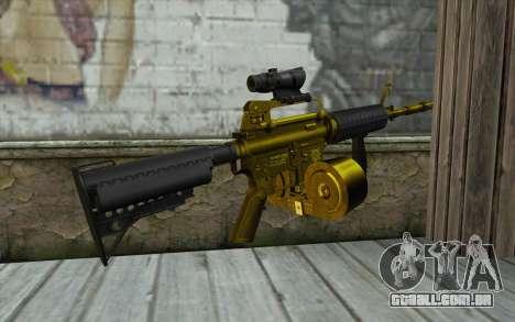 Ouro M4, com uma loja para GTA San Andreas segunda tela