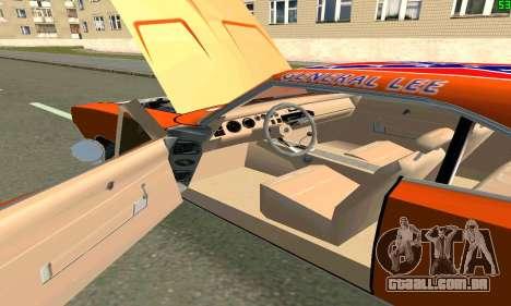 Dodge Charger General lee para GTA San Andreas traseira esquerda vista