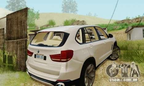 BMW X5 (F15) 2014 para GTA San Andreas vista interior