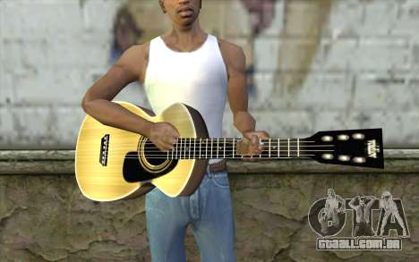 Acoustic Guitar para GTA San Andreas terceira tela
