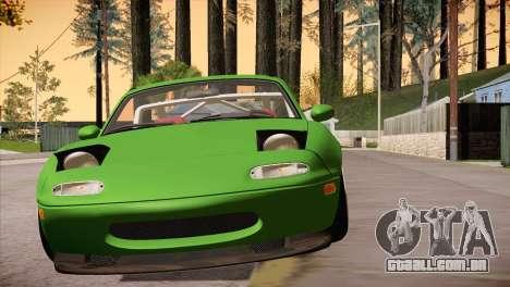 Mazda Miata Hellaflush para GTA San Andreas vista traseira